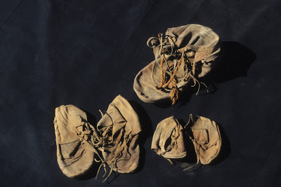 Ancient shoes found in Egyptian temple