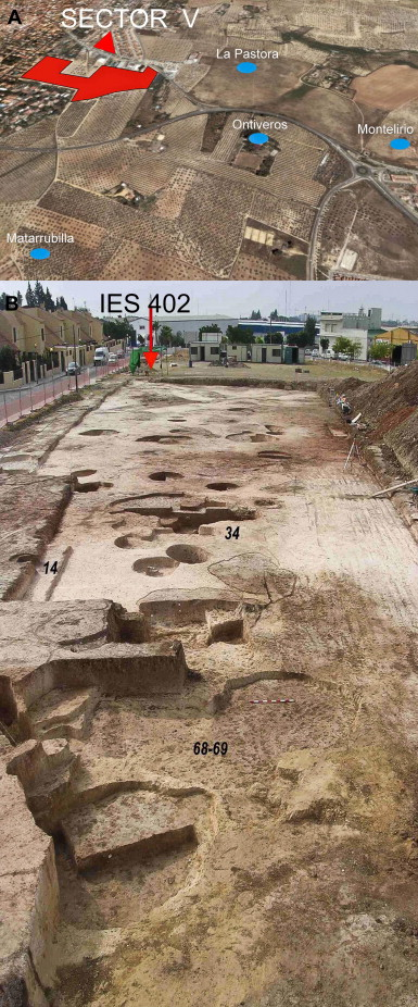 Valencina de la Concepción. Location of structure IES 402