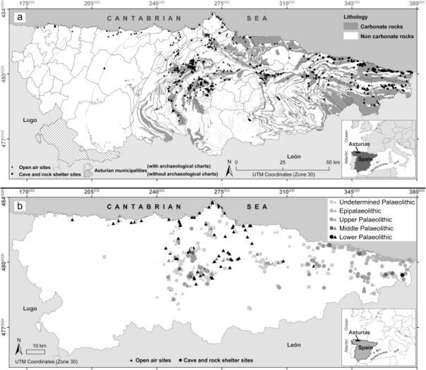 La distribución espacial de los asentamientos humanos del Paleolítico y su influencia en los estudios paleoecológicos